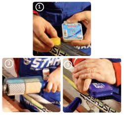 Ski Wax 100% Fluorocarbon application