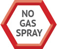 No gas spray
